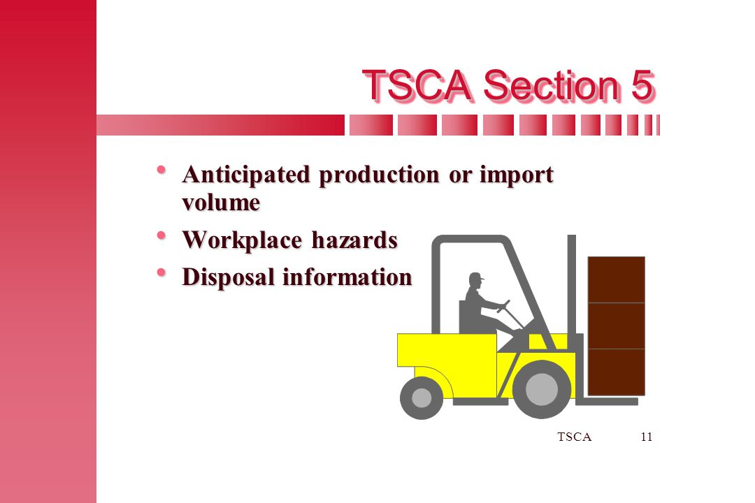 TSCA Section 5 Anticipated production or import volume