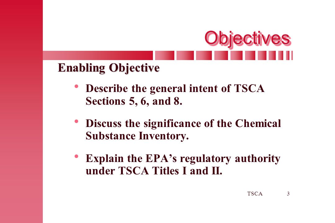 Objectives Enabling Objective