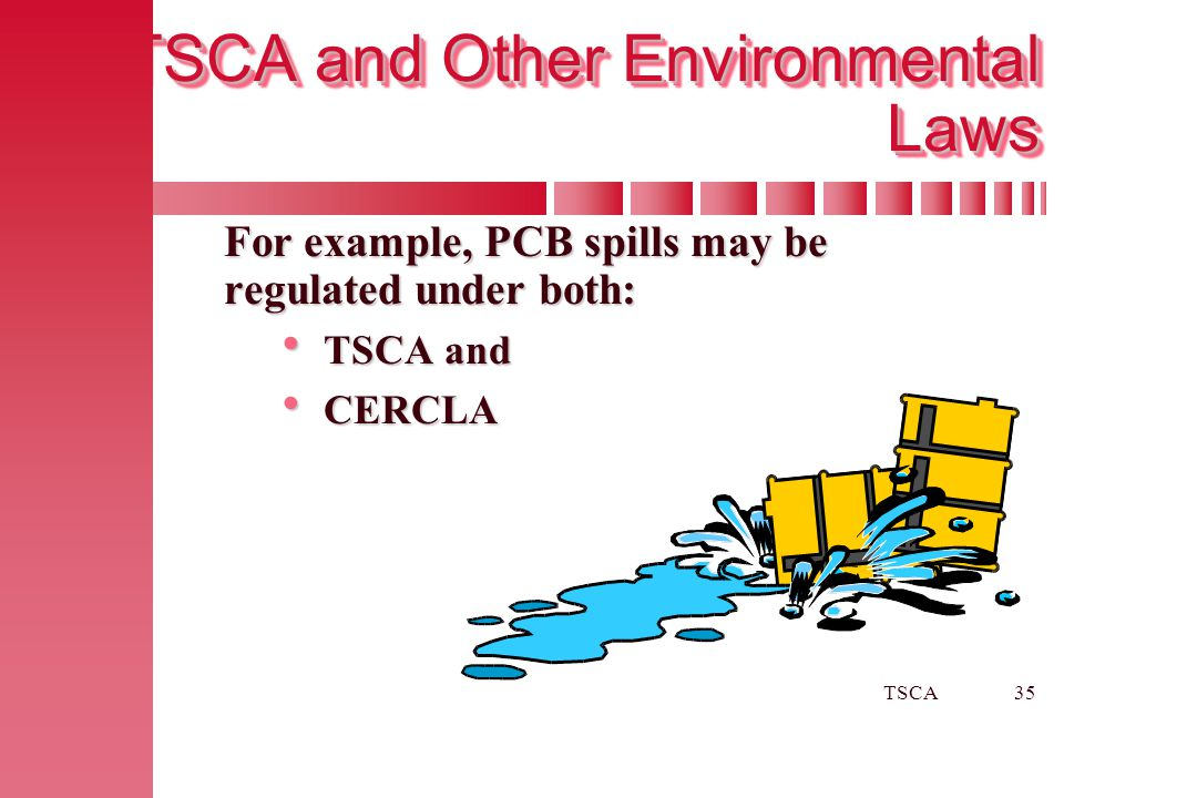 TSCA and Other Environmental Laws