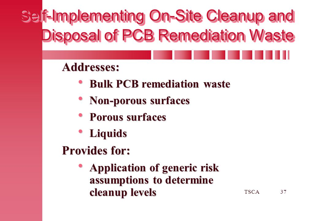 Self-Implementing On-Site Cleanup and Disposal of PCB Remediation Waste