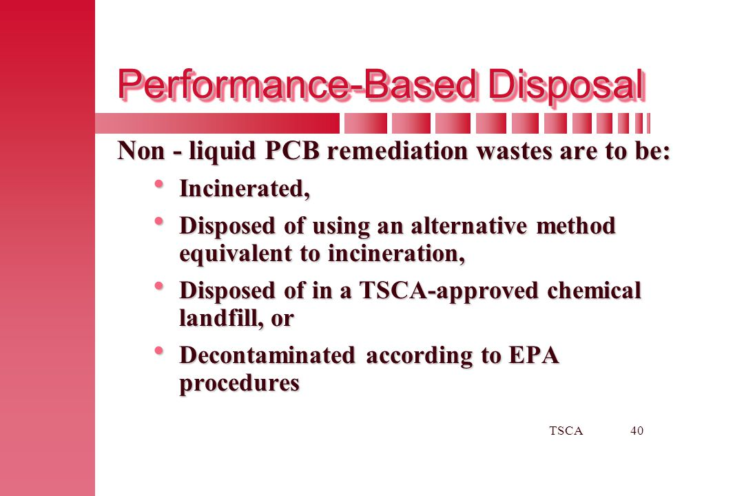 Performance-Based Disposal