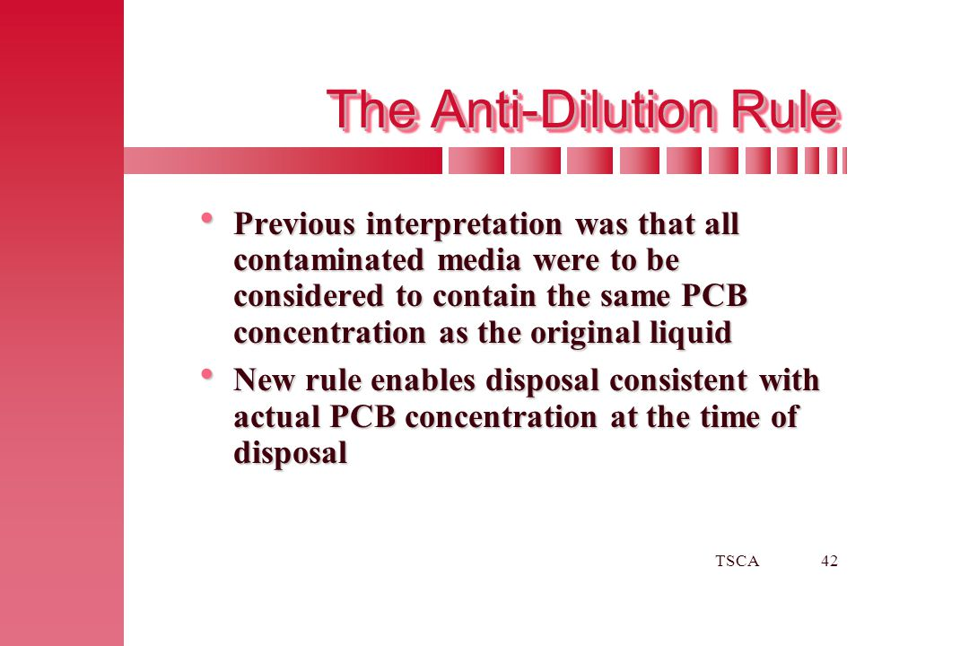 The Anti-Dilution Rule