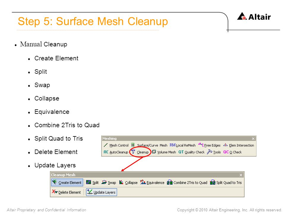 Step 5: Surface Mesh Cleanup