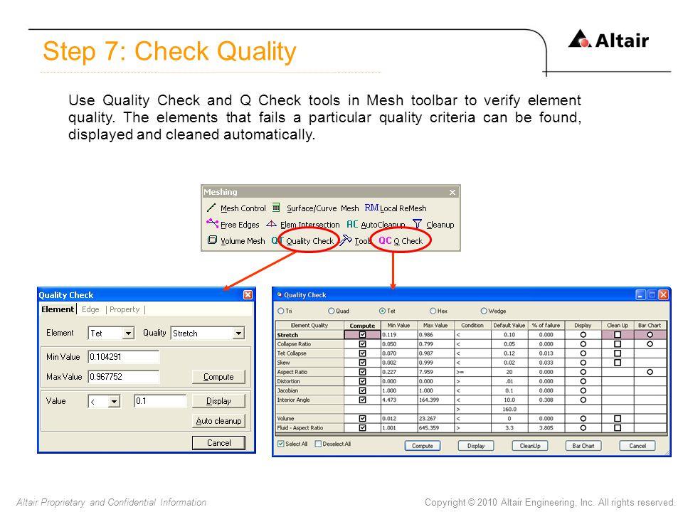 Step 7: Check Quality