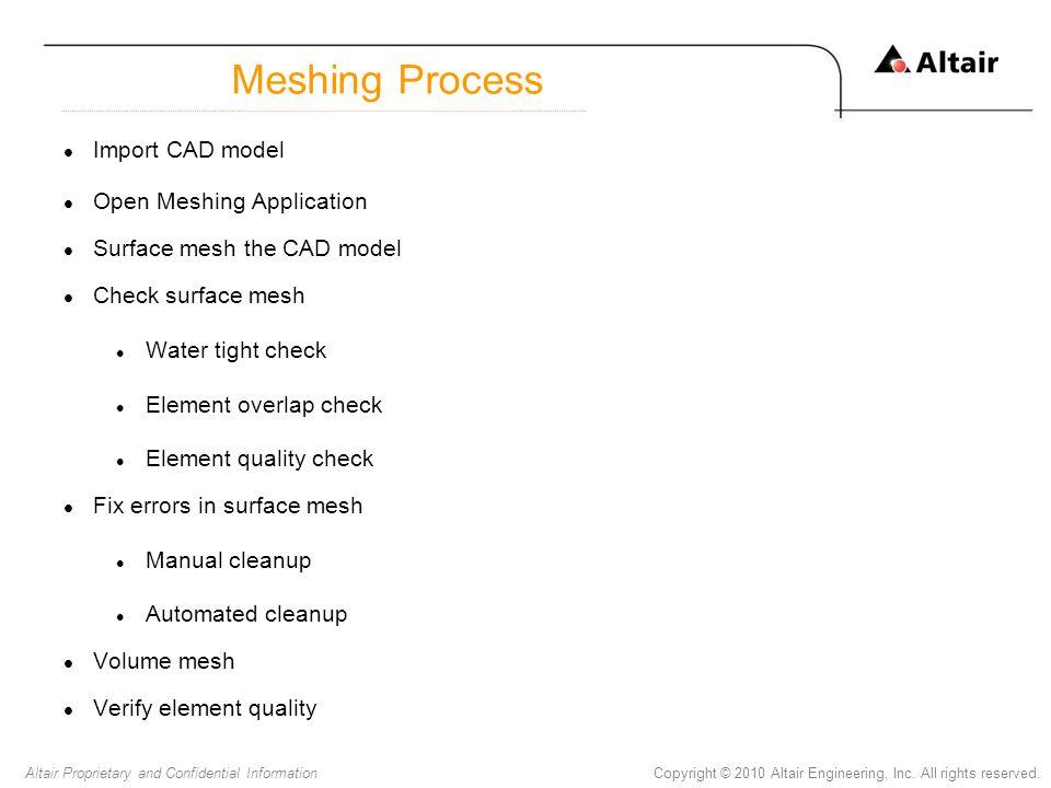 Meshing Process Import CAD model Open Meshing Application