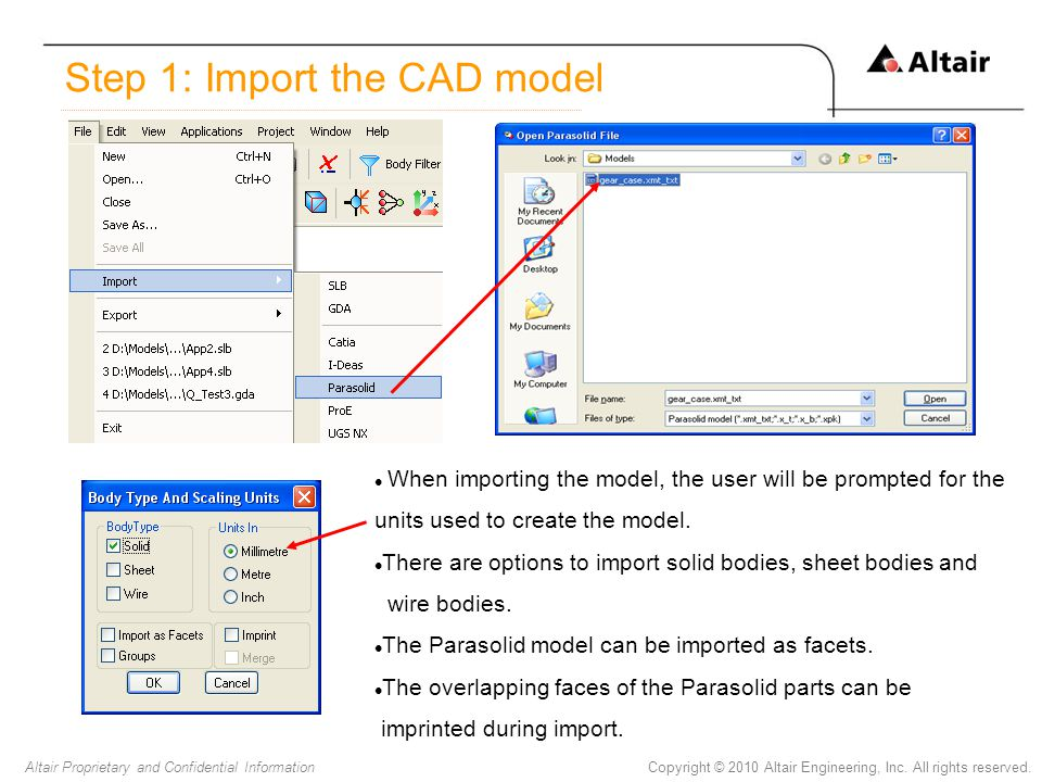 Step 1: Import the CAD model