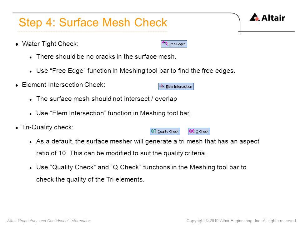 Step 4: Surface Mesh Check
