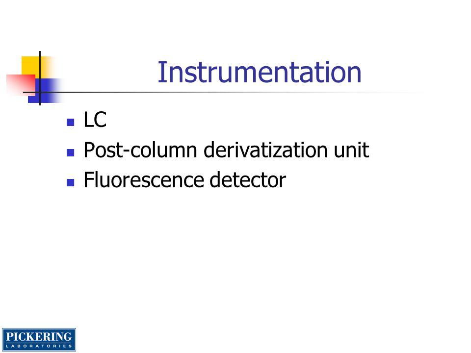 Instrumentation LC Post-column derivatization unit