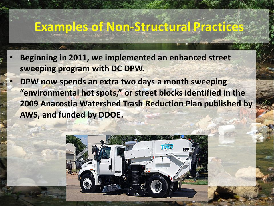 Examples of Non-Structural Practices