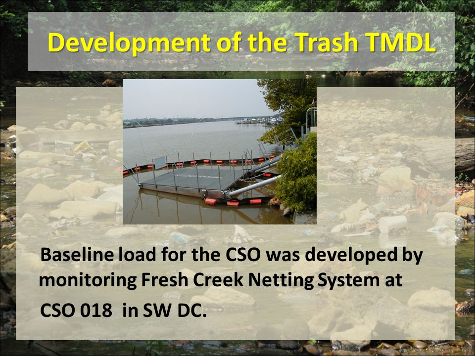 Development of the Trash TMDL