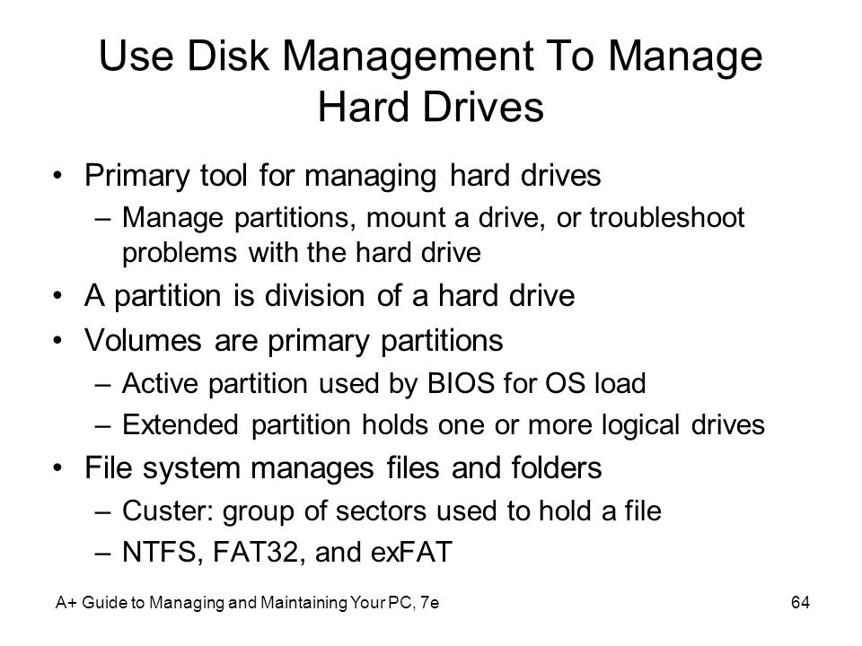 Use Disk Management To Manage Hard Drives