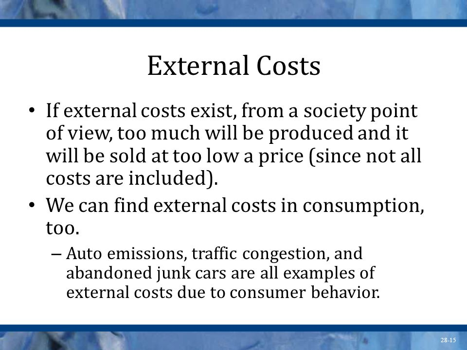 External Costs