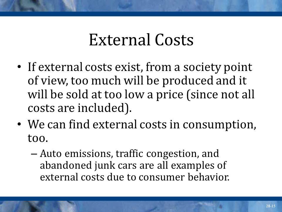 External Costs