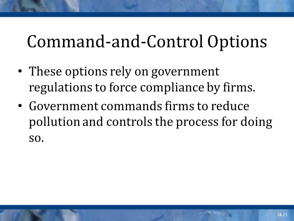 Command-and-Control Options