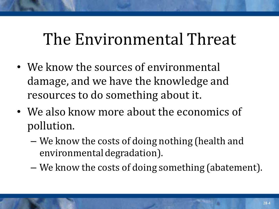 The Environmental Threat