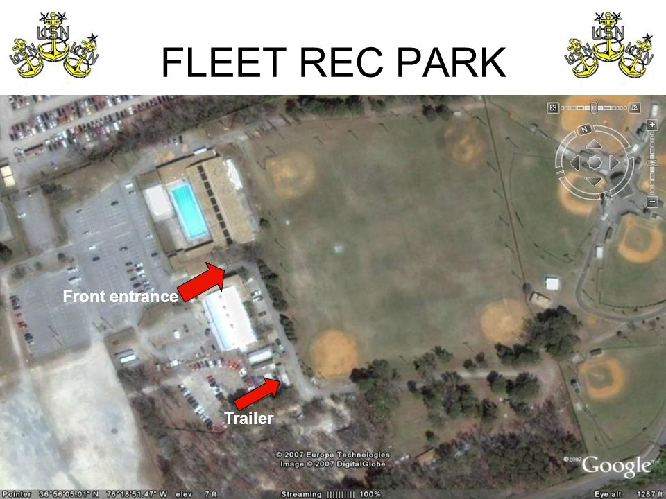 FLEET REC PARK Front entrance Trailer