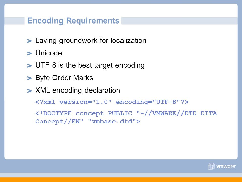 Encoding Requirements