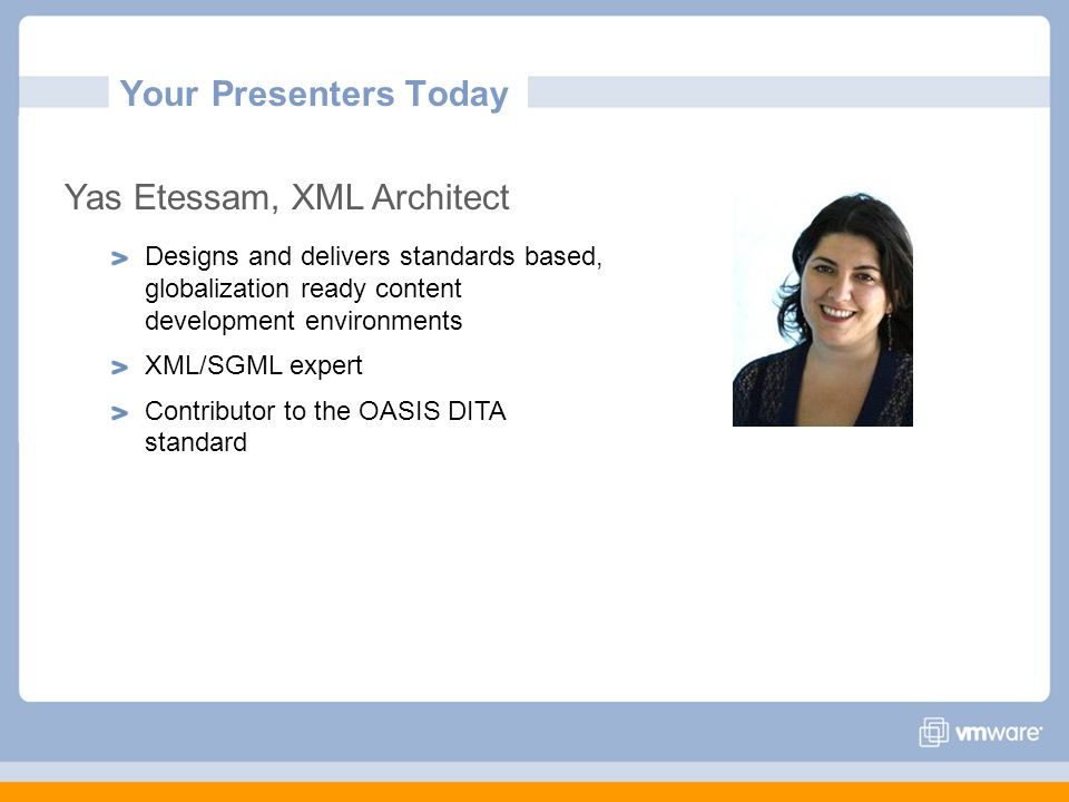 Yas Etessam, XML Architect