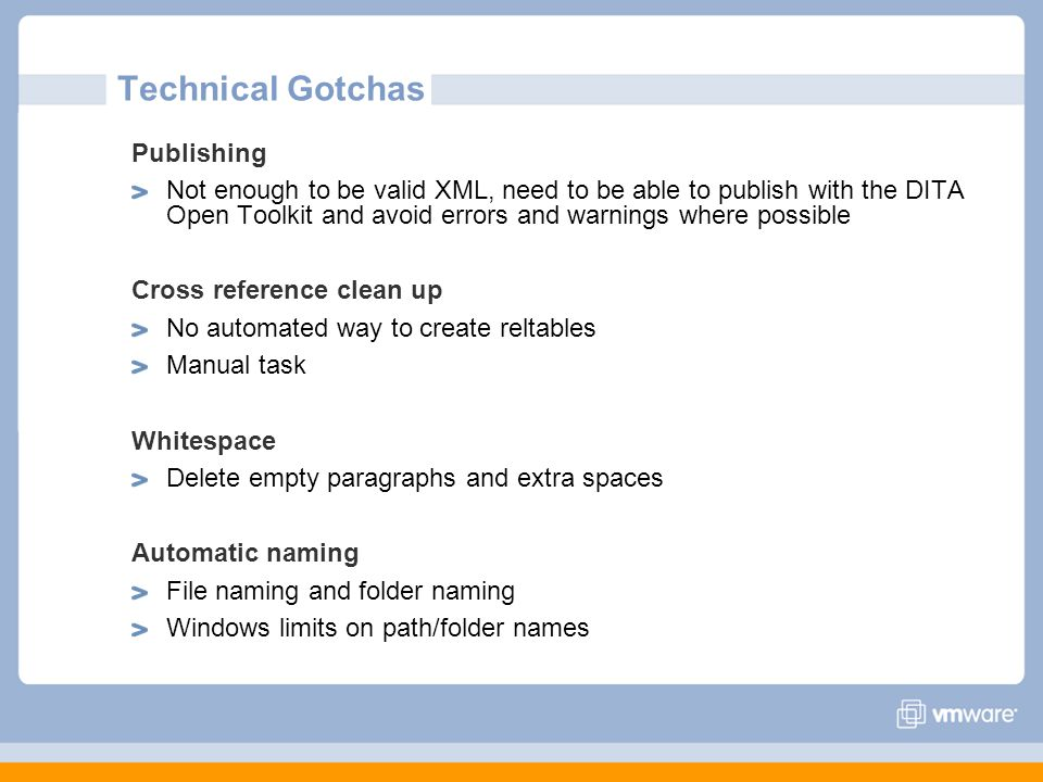 Technical Gotchas Publishing