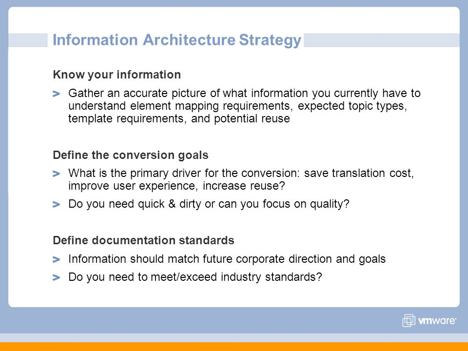 Information Architecture Strategy