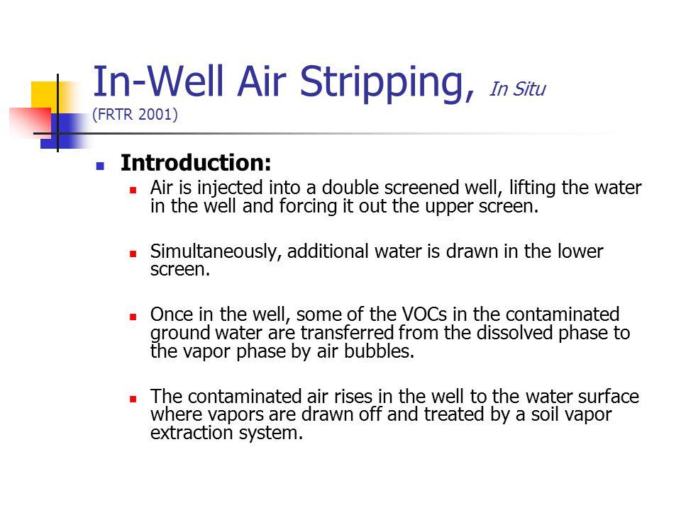 In-Well Air Stripping, In Situ (FRTR 2001)