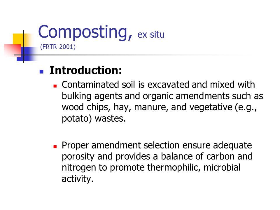Composting, ex situ (FRTR 2001)
