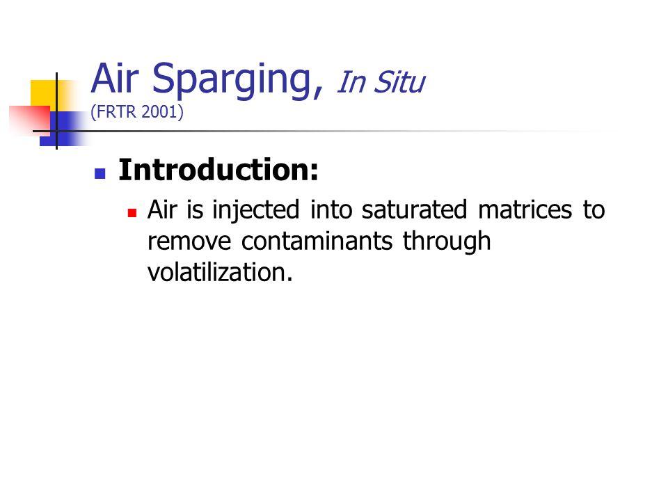 Air Sparging, In Situ (FRTR 2001)