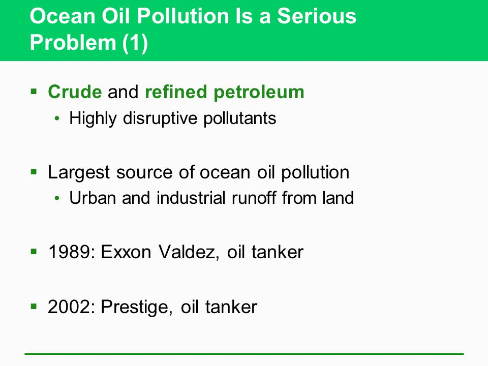 Ocean Oil Pollution Is a Serious Problem (1)