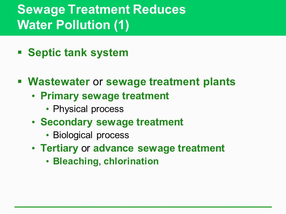 Sewage Treatment Reduces Water Pollution (1)