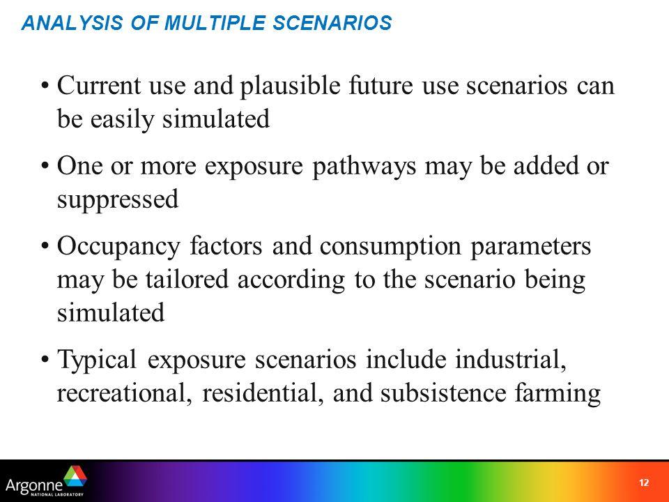 ANALYSIS OF MULTIPLE SCENARIOS