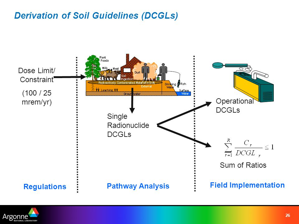 Derivation of Soil Guidelines (DCGLs)