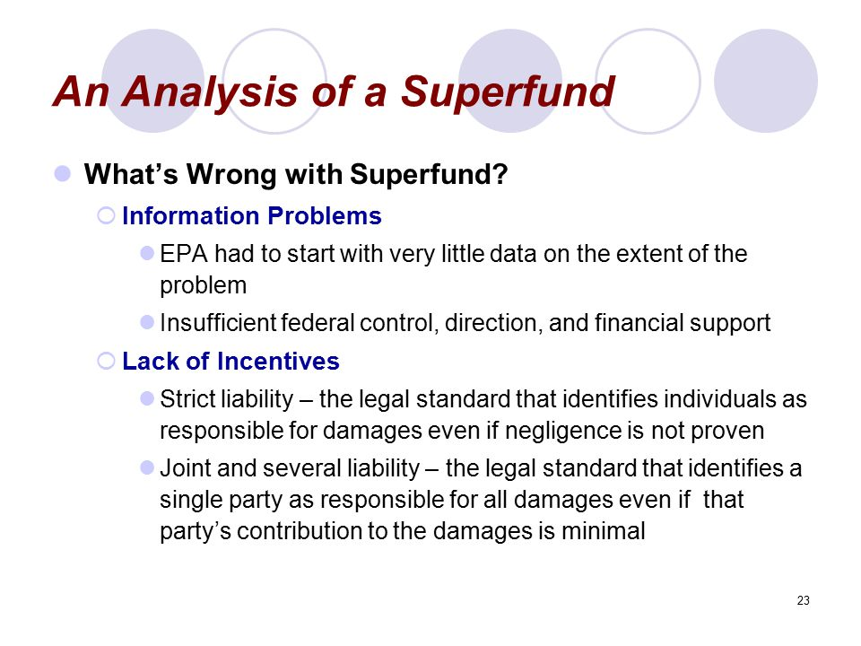 An Analysis of a Superfund