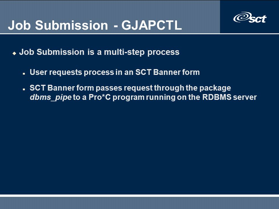 Job Submission - GJAPCTL