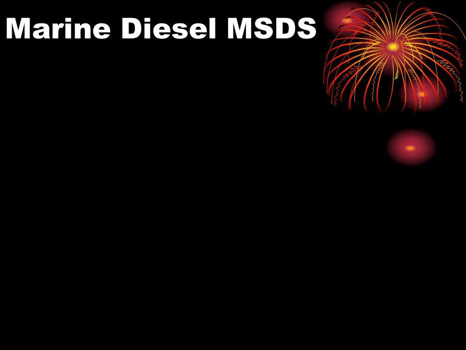 Marine Diesel MSDS