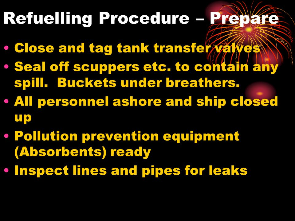 Refuelling Procedure – Prepare
