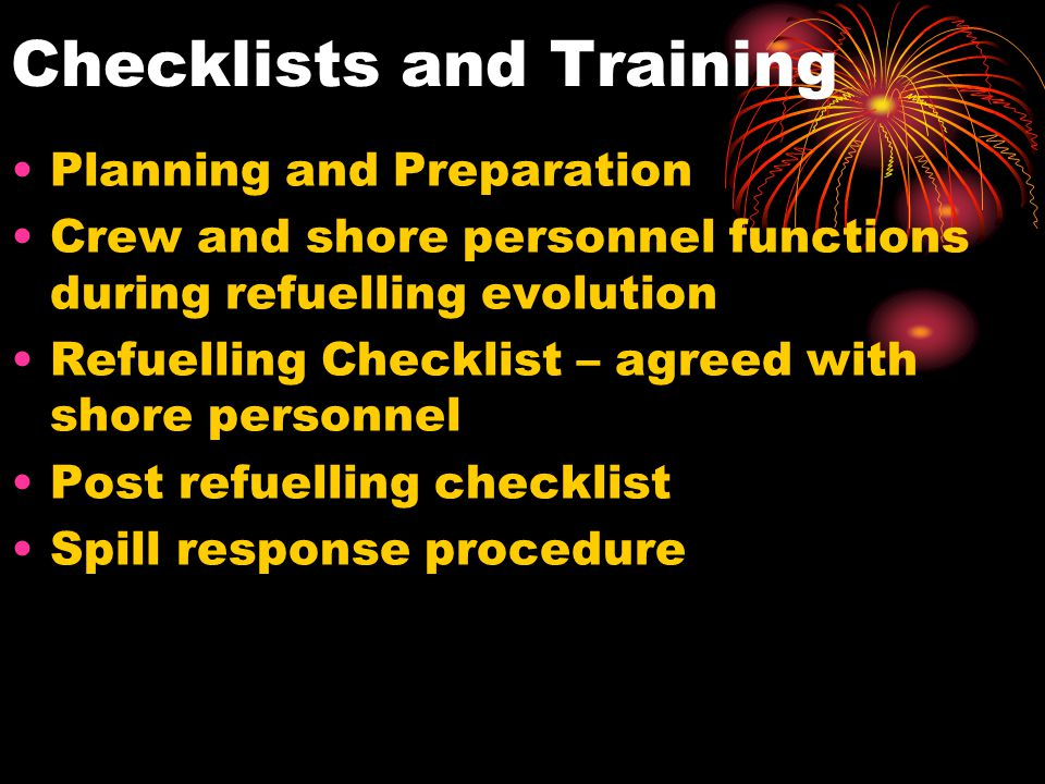 Checklists and Training