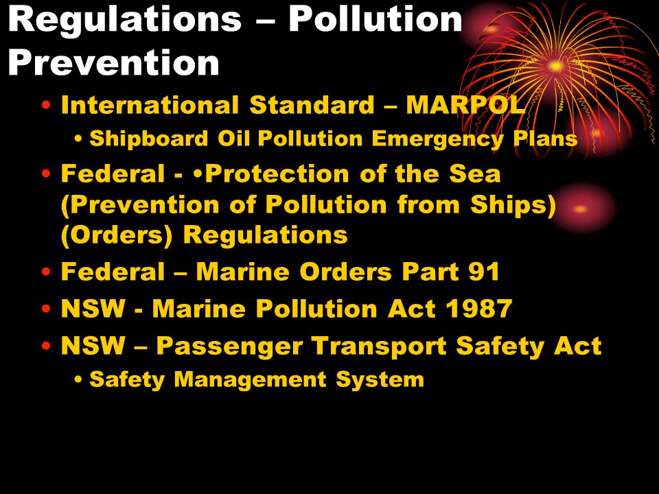 Regulations – Pollution Prevention