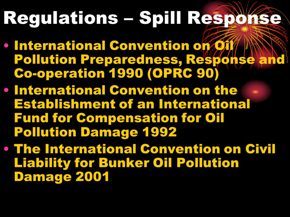 Regulations – Spill Response