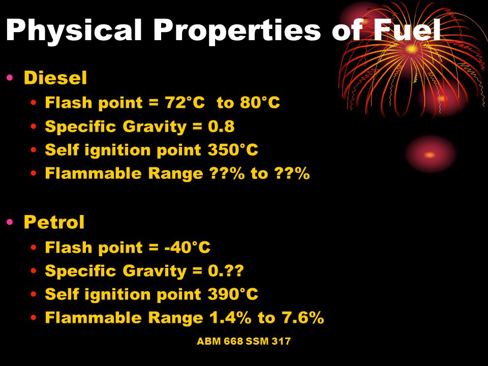 Physical Properties of Fuel
