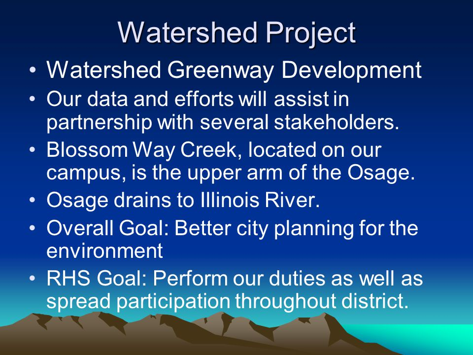 Watershed Project Watershed Greenway Development