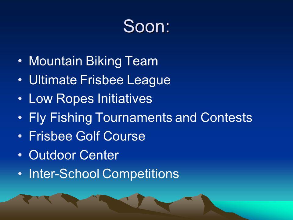 Soon: Mountain Biking Team Ultimate Frisbee League