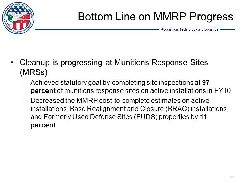 Bottom Line on MMRP Progress