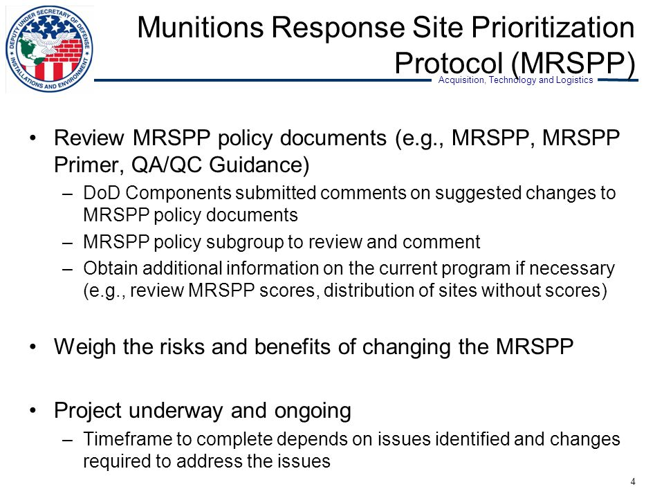 Munitions Response Site Prioritization Protocol (MRSPP)