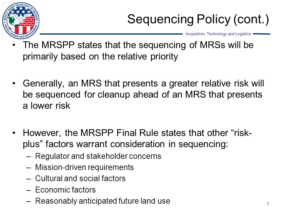 Sequencing Policy (cont.)