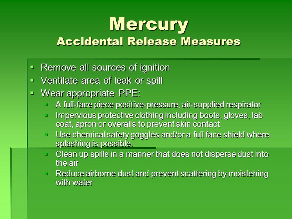 Mercury Accidental Release Measures