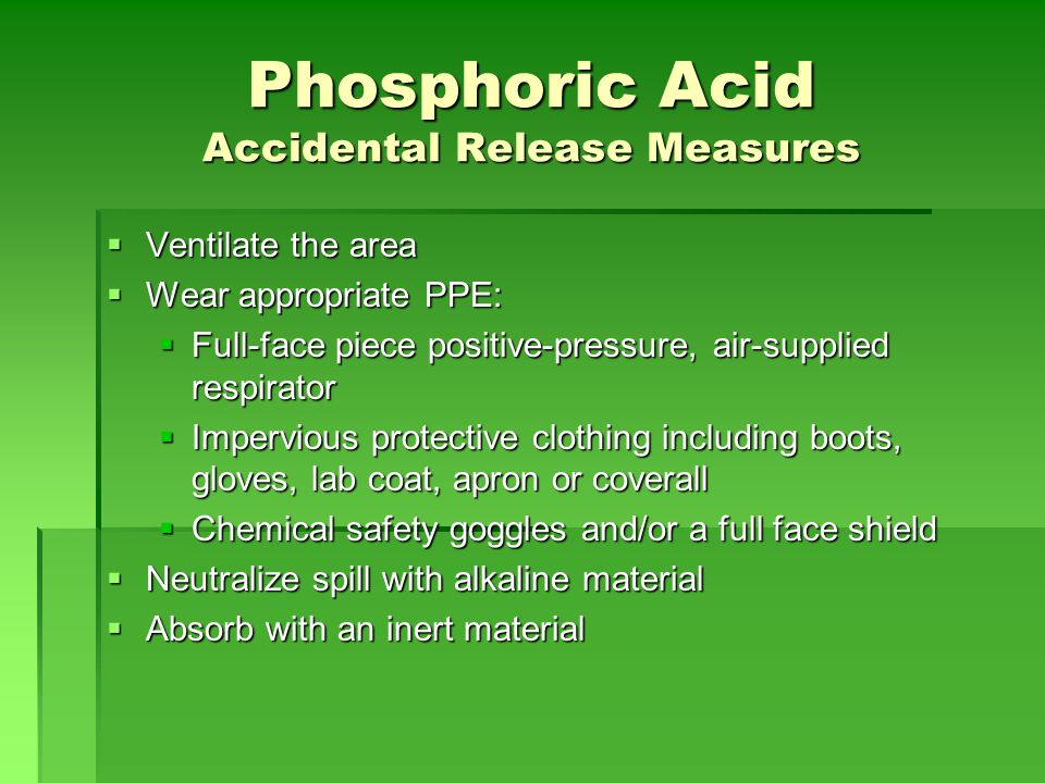 Phosphoric Acid Accidental Release Measures