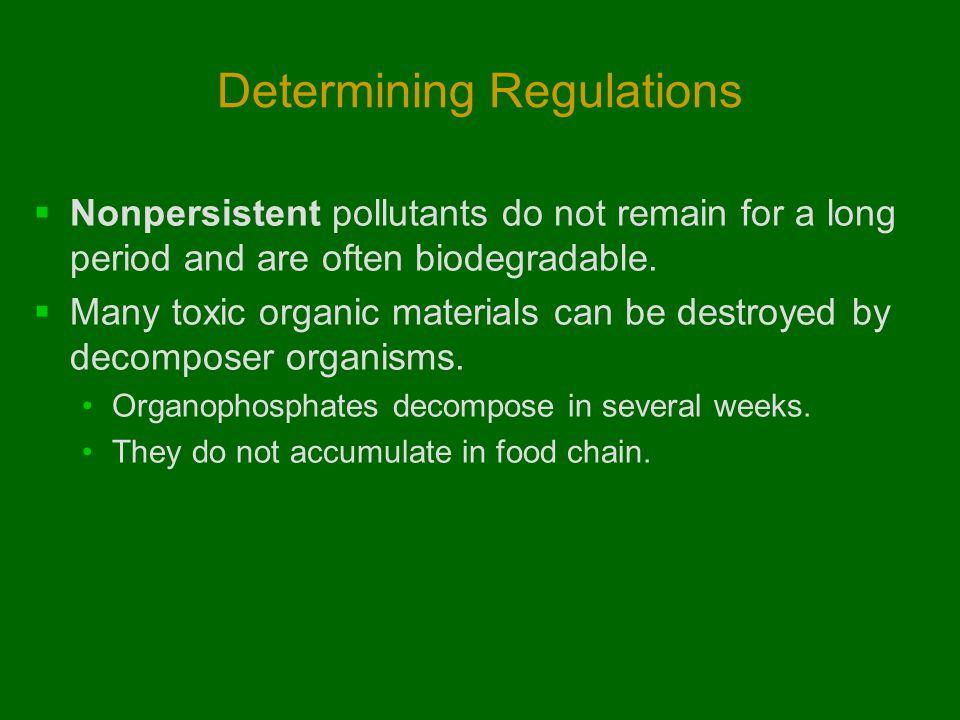 Determining Regulations