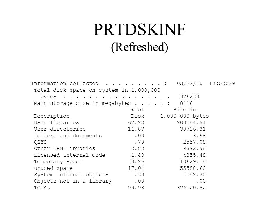 PRTDSKINF (Refreshed)