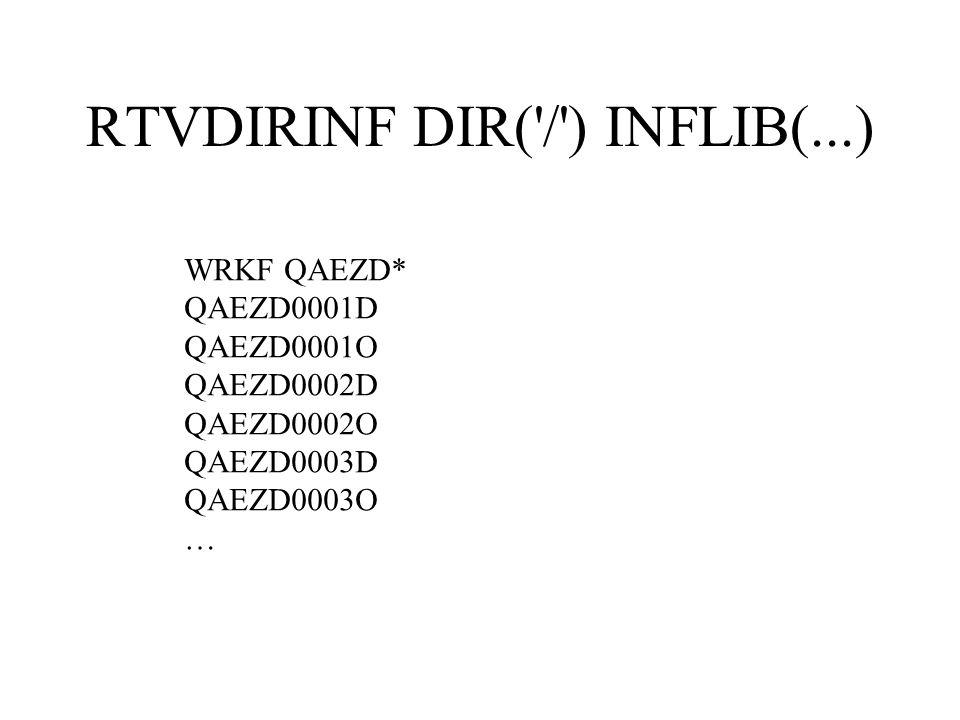 RTVDIRINF DIR( / ) INFLIB(...)
