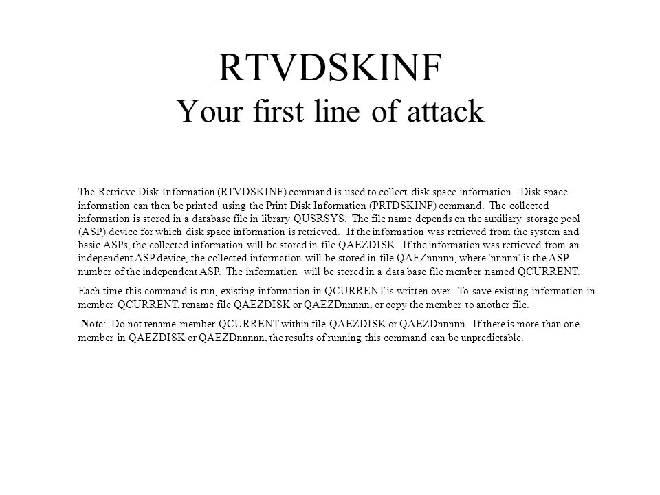 RTVDSKINF Your first line of attack